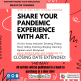 Poster about a Covid-19 art competition for young people