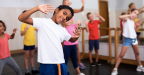 Photograph of children being active